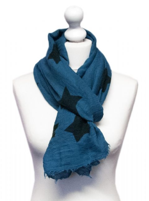 Believe -  Large Silky Touch Star Printed Scarf (Jade)
